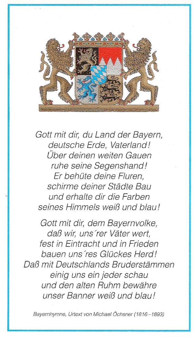 Bayerische Nationalhymne